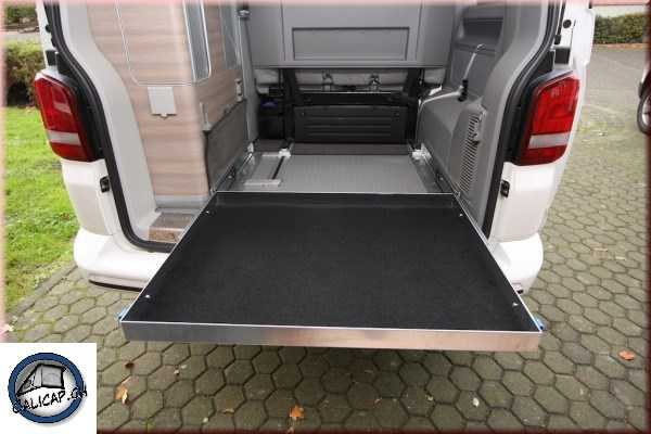 vw t5 t6 calidrawer heckauszug vollaluminium o accessoires. Black Bedroom Furniture Sets. Home Design Ideas