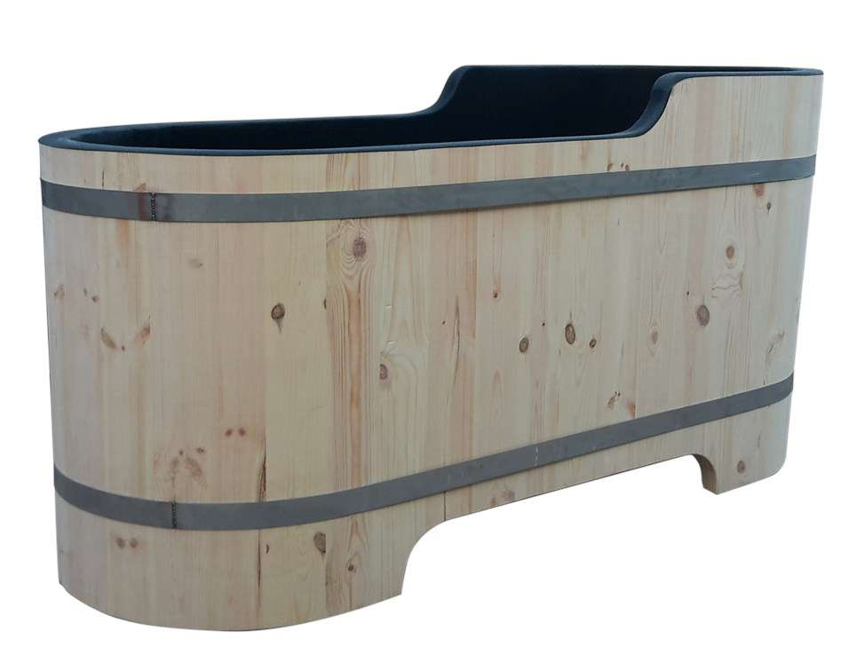 Baignoire en bois sur mesure accessoires pour le salle for Accessoires pour salle de bain en bois