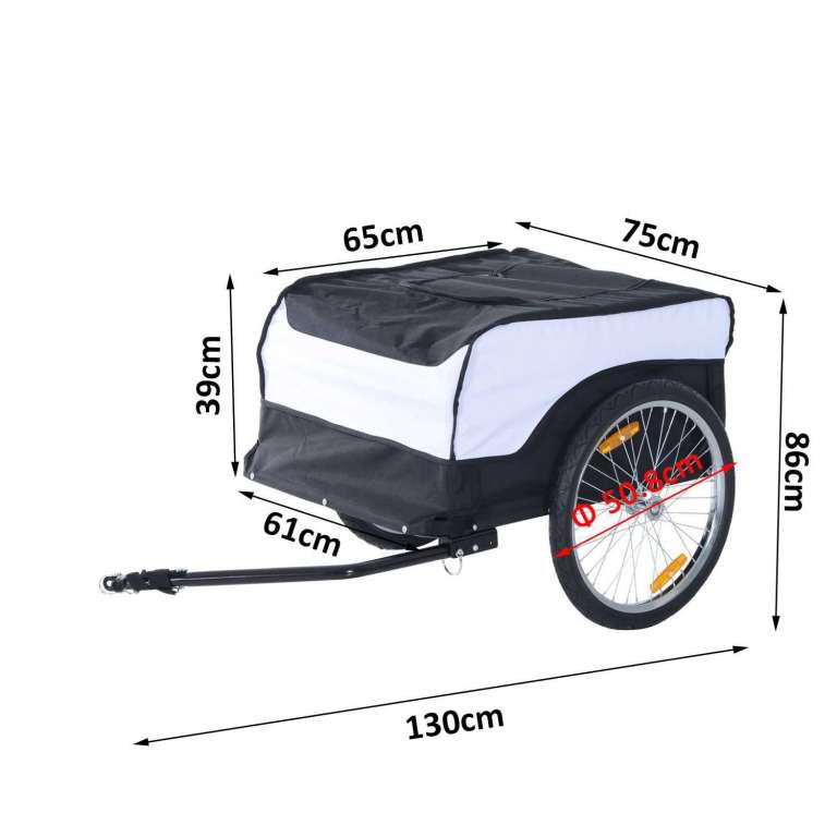 veloanh nger homcom cargo trailer zusammenklappbar anh nger. Black Bedroom Furniture Sets. Home Design Ideas