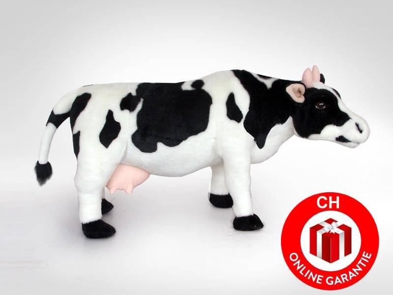 vache en peluche vache noire et blanche debout fid lement. Black Bedroom Furniture Sets. Home Design Ideas