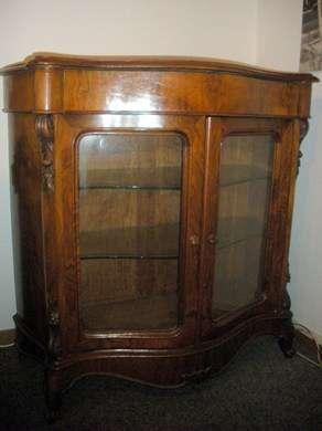 Cr dence ancienne avec vitrine armoires buffets for Meuble credence ancienne