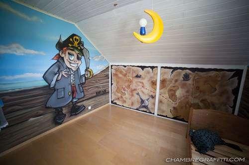 D co trompe l 39 oeil pour chambre d 39 enfant chambregraffiti - Trompe l oeil chambre ...