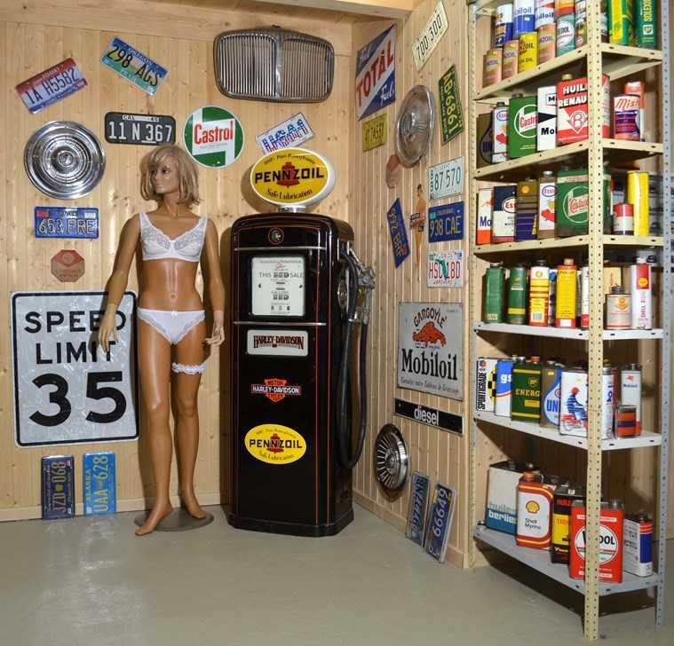 D coration de garage bar vintage style route 66 autres - Deco garage vintage ...