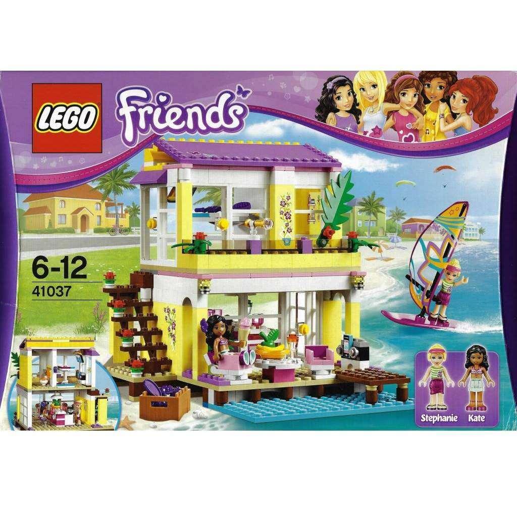 lego friends 41037 stephanies strandhaus jeux bricolage. Black Bedroom Furniture Sets. Home Design Ideas