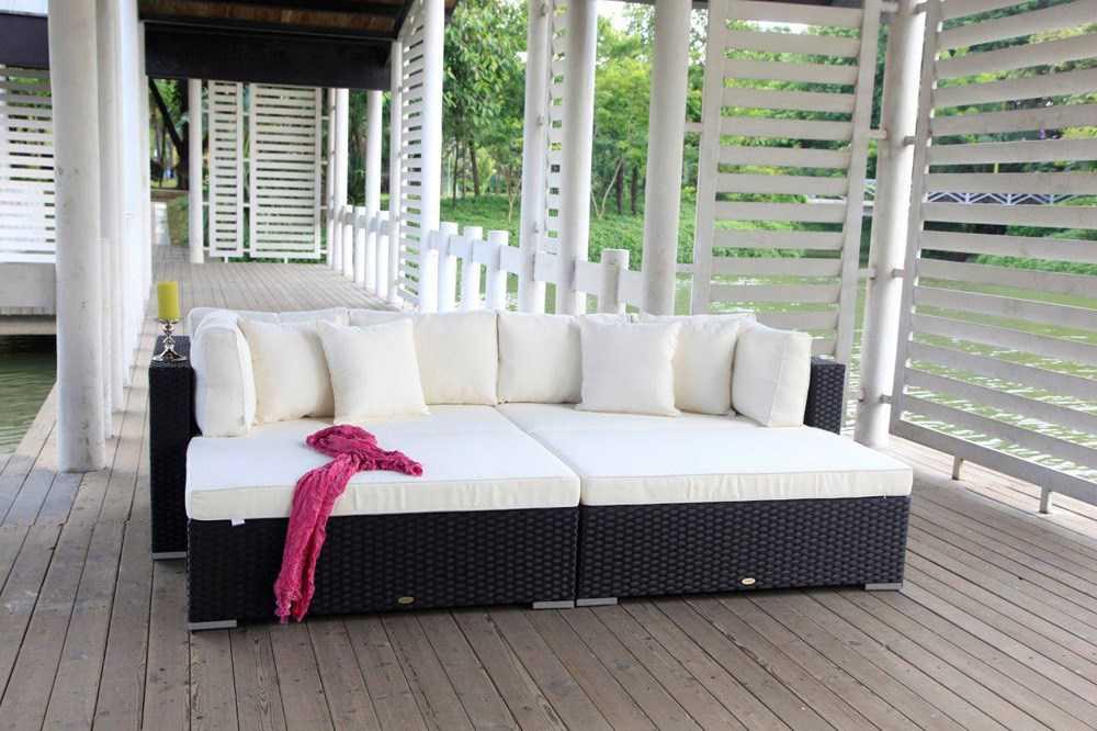pe rattan gartenm bel garten sofa rattan lounge autres. Black Bedroom Furniture Sets. Home Design Ideas