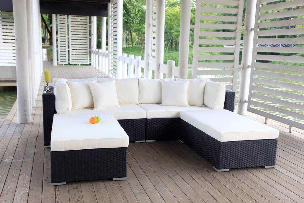 PE Rattan Gartenmöbel - Garten Sofa - Rattan Lounge - Meubles de ...
