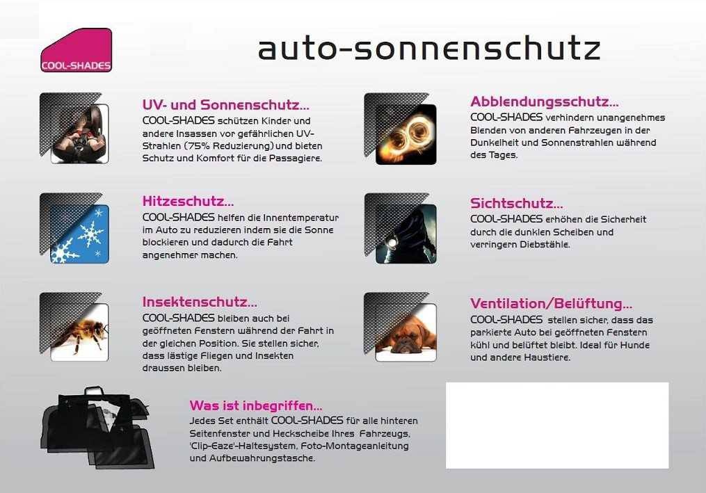 renault auto sonnenschutz set cool shades passgenau automobiles. Black Bedroom Furniture Sets. Home Design Ideas