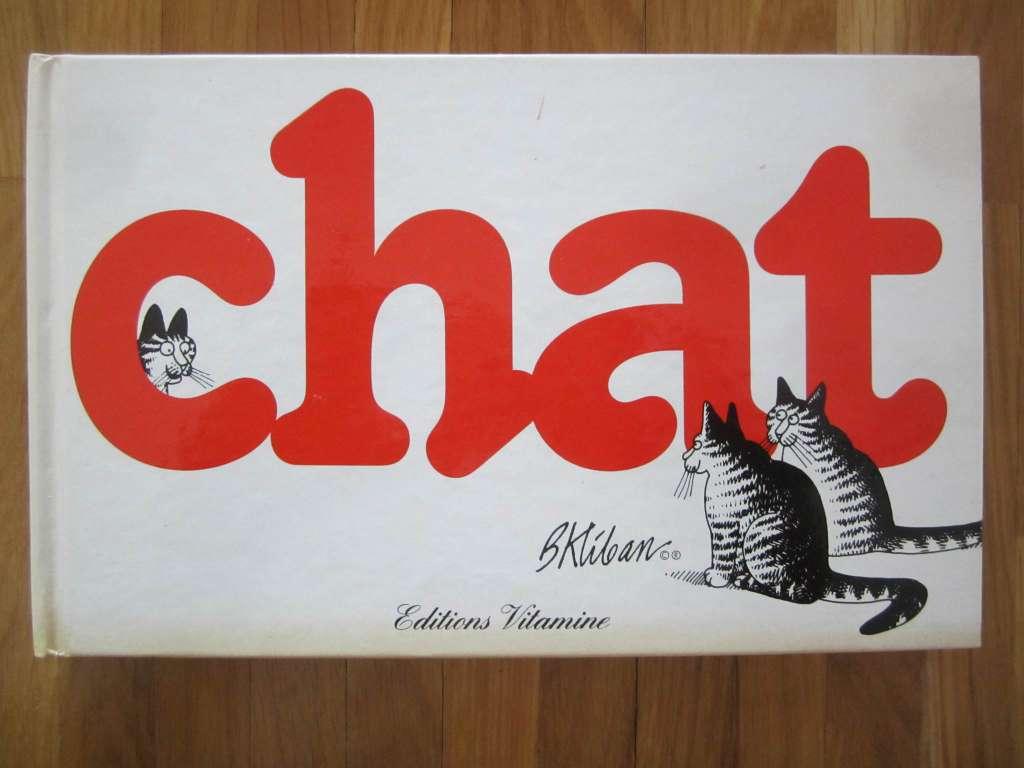 "Livre ""chat"" (dessins humour) Bernard Kliban (d'occasion)"