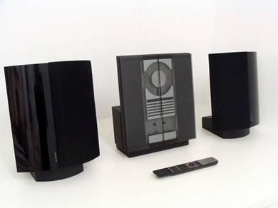 bang olufsen beosound ouverture avec 2 enceintes beolab 4000 bang olufsen. Black Bedroom Furniture Sets. Home Design Ideas
