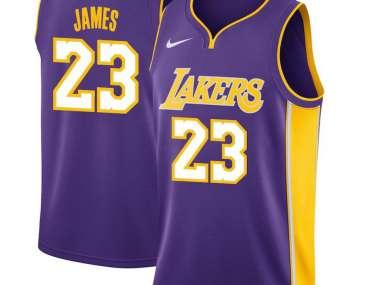 brand new 94fba 22abe LeBron James / Los Angeles Lakers 2018 / Maillot-Trikot NBA.
