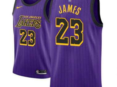size 40 fc06b 28990 LeBron James/ Los Angeles Lakers 2018-19 Special Jersey MPLS