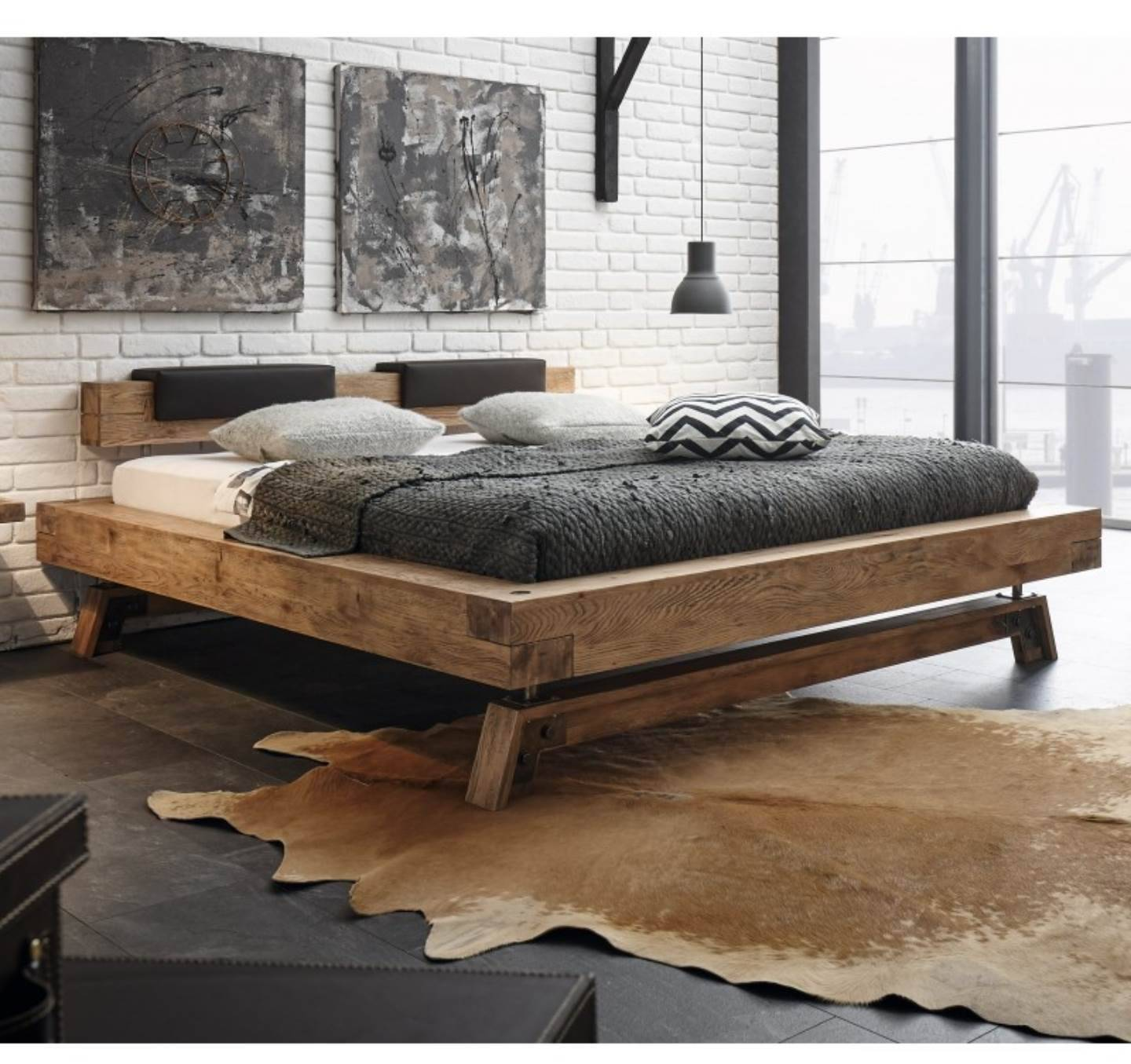 lit complet h avec matelas latex 180x200 10ans de garantie betten matratzen. Black Bedroom Furniture Sets. Home Design Ideas
