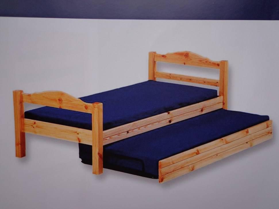lit gigogne en pin naturel 90 x 200 cm betten matratzen. Black Bedroom Furniture Sets. Home Design Ideas
