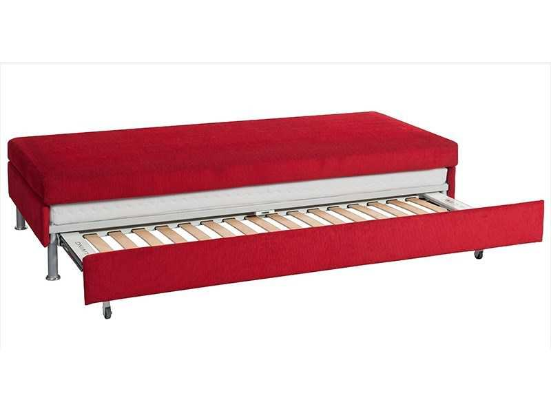 Bed for living doppio ist das erste doppelbett design sofa for Bettsofa design