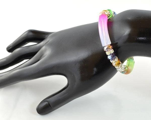 soldes bracelet acrylique tubes fins couleur choix bijoux fantaisie. Black Bedroom Furniture Sets. Home Design Ideas