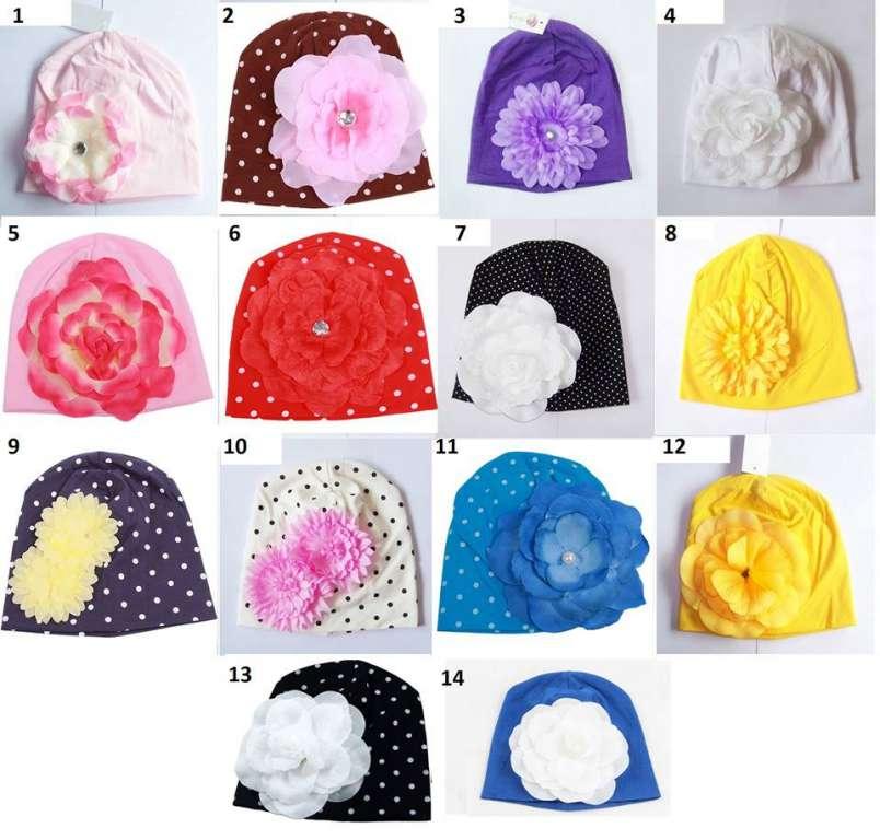 Bonnet léger avec fleur (printemps automne) - Bonnets   Echarpes ... 8b6995eccc2