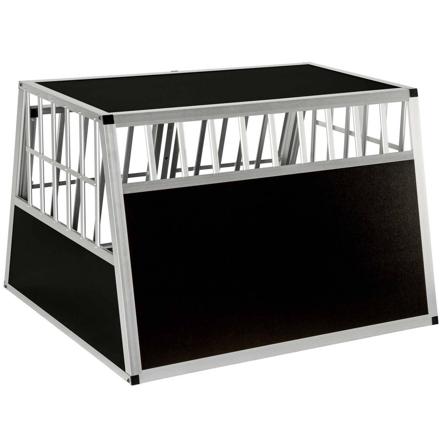 doppel hundetransportbox alu gr sse xxl bobby box. Black Bedroom Furniture Sets. Home Design Ideas