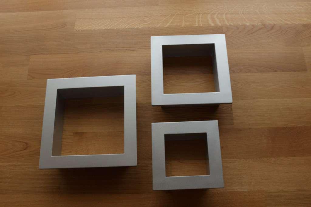 3 cadres argent s pour petits objets cadres de tableaux. Black Bedroom Furniture Sets. Home Design Ideas