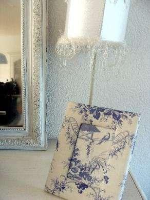 magnifique cadre en tissu toile de jouy d coration. Black Bedroom Furniture Sets. Home Design Ideas
