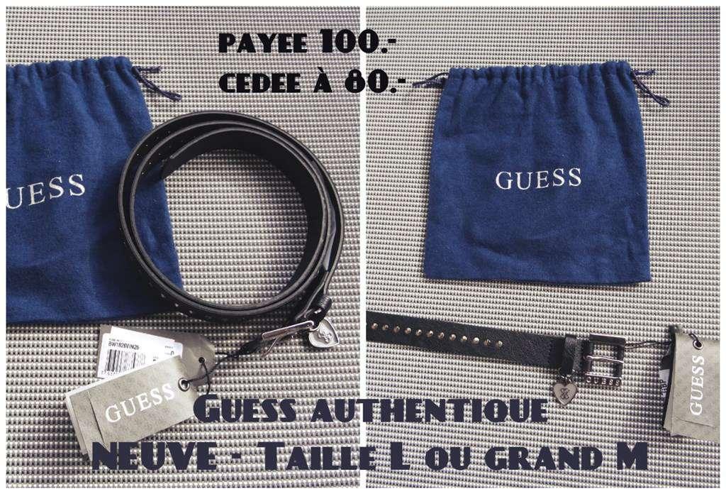75d125f10b0 Ceinture Guess authentique - NEUVE - Taille L 11605377 ...