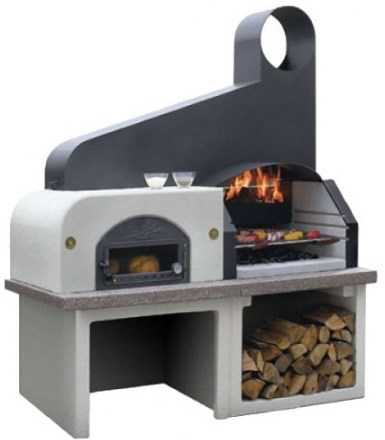 Barbecue four pizza maxime chemin e d 39 ext rieur - Cheminee barbecue exterieur ...