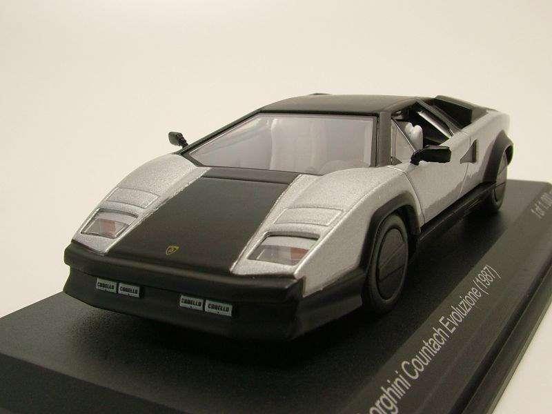 Neu Lamborghini Countach Evoluzione 1987 Silber Matt Concept Cars