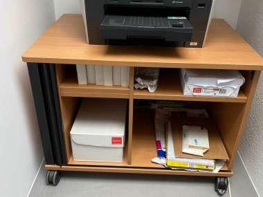 Support Imprimante Et Meuble De Rangement Papier