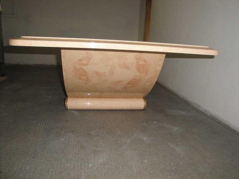 Jolie Table Basse Imitation Marbre Esstische Essst Hle
