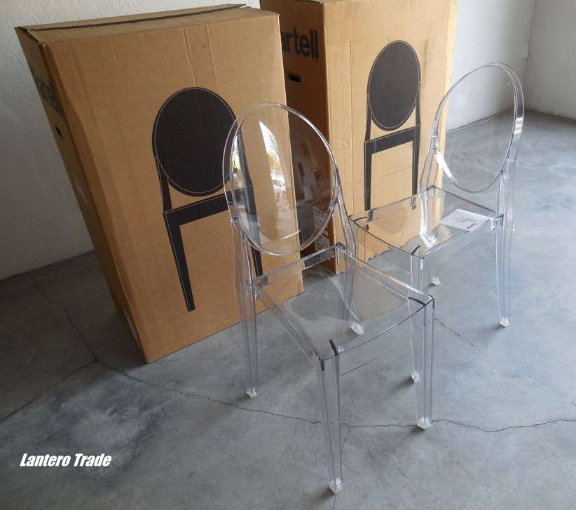 Set 4 Chaises Victoria Ghost Design Kartell Esszimmer