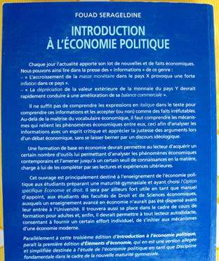 COURS D'INTRODUCTION À L'ÉCONOMIE