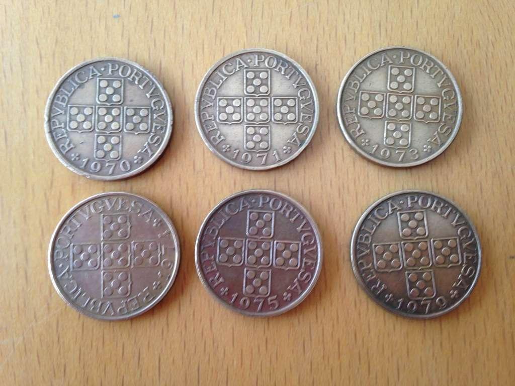 6 Pièces Anciennes 1 Esc Portugal Münzen