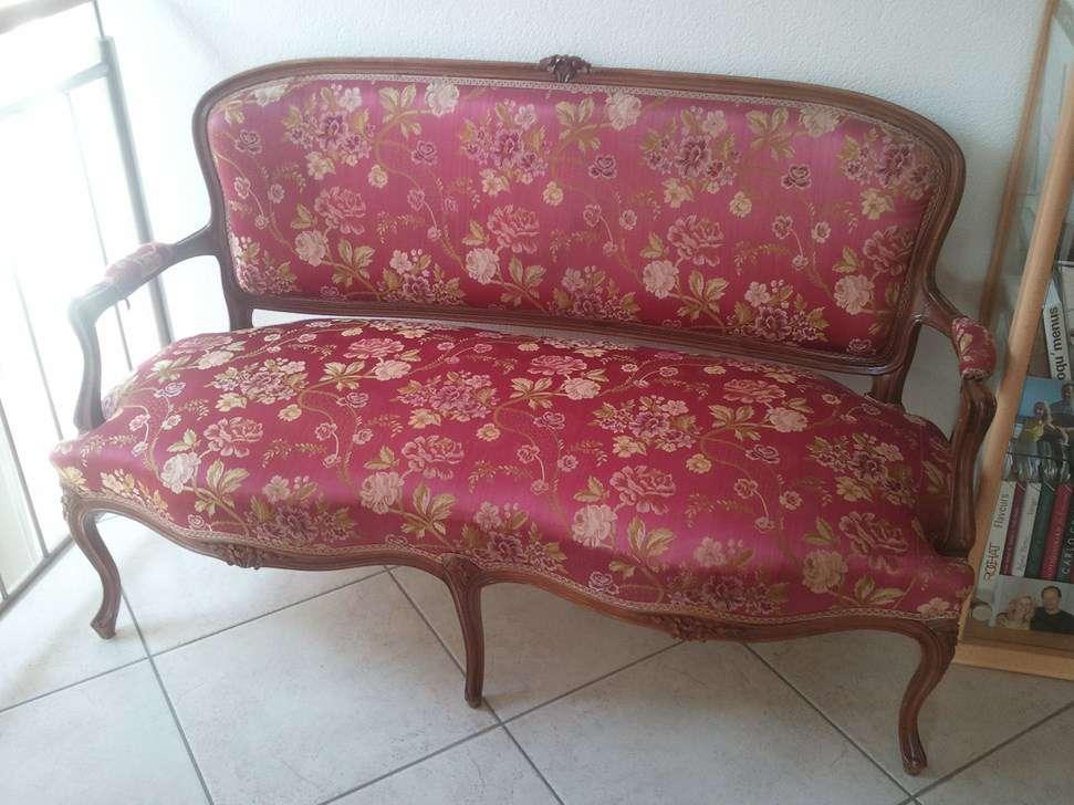 Canapé et 2 fauteuils anciens, style Louis Philippe - Fauteuils ...