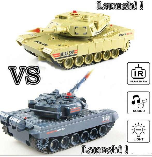 rc ferngesteuerter panzer mit integriertem infrarot battle. Black Bedroom Furniture Sets. Home Design Ideas
