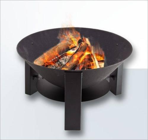 feuerschale 60 cm aus gusseisen mit grillrost feuerschale. Black Bedroom Furniture Sets. Home Design Ideas
