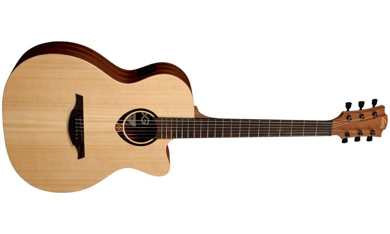 magnifique guitare lag lectro acoustique folk. Black Bedroom Furniture Sets. Home Design Ideas