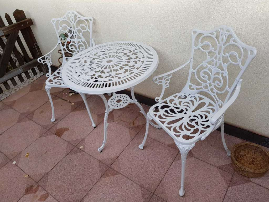 Barock Bistro Balkon Garten Tisch Stühle Set Stühle Tisch