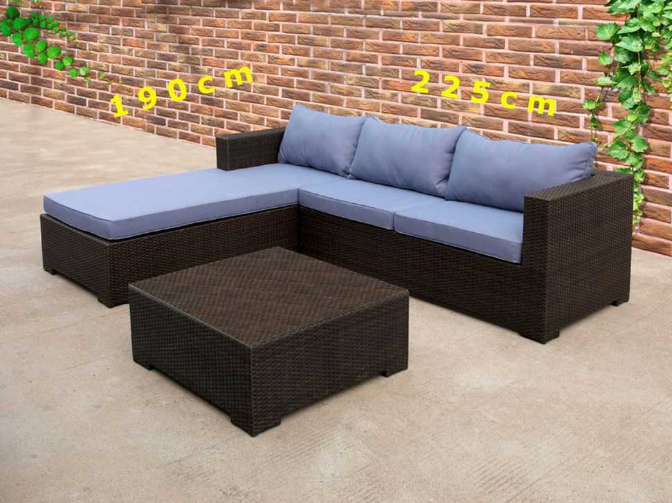 rattan garten lounge mit kissen hellgr n gartenst hle. Black Bedroom Furniture Sets. Home Design Ideas
