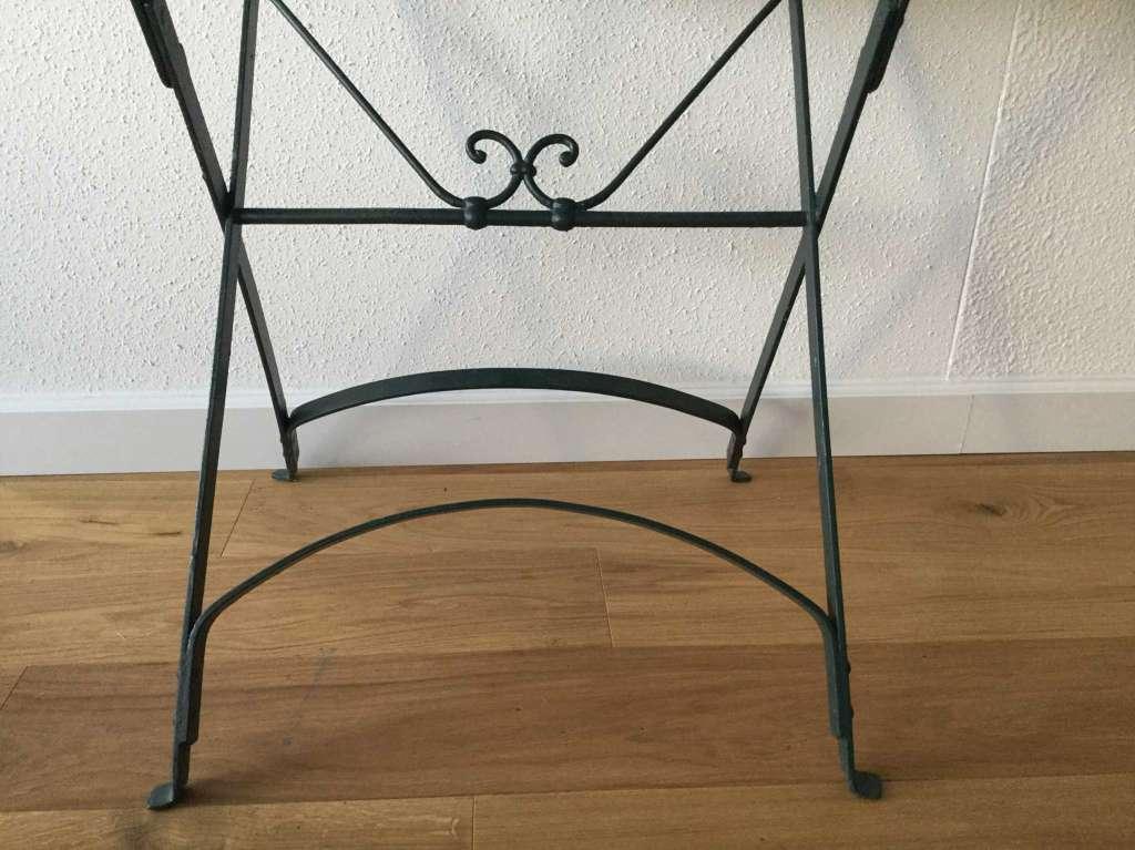 Ancienne Petite Table De Jardin Rectangulaire Pliable Handwerk