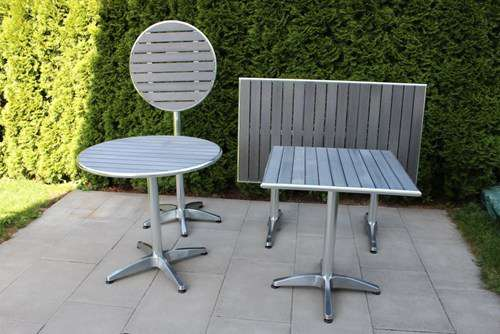 GO table à manger table jardin 70x120 cm gris table pliable ...
