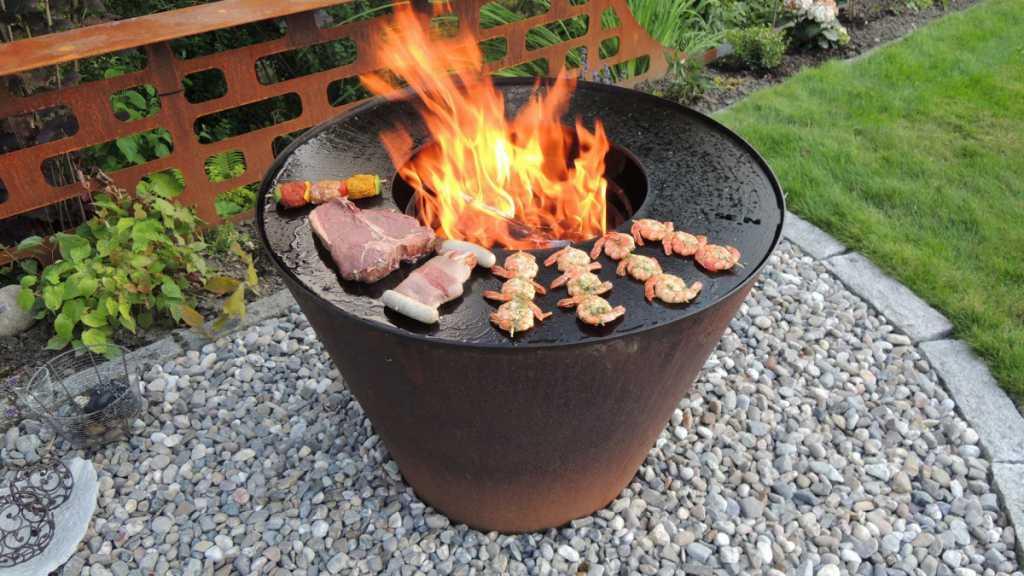 feuergrill feuerschale kobo 80cm grill. Black Bedroom Furniture Sets. Home Design Ideas