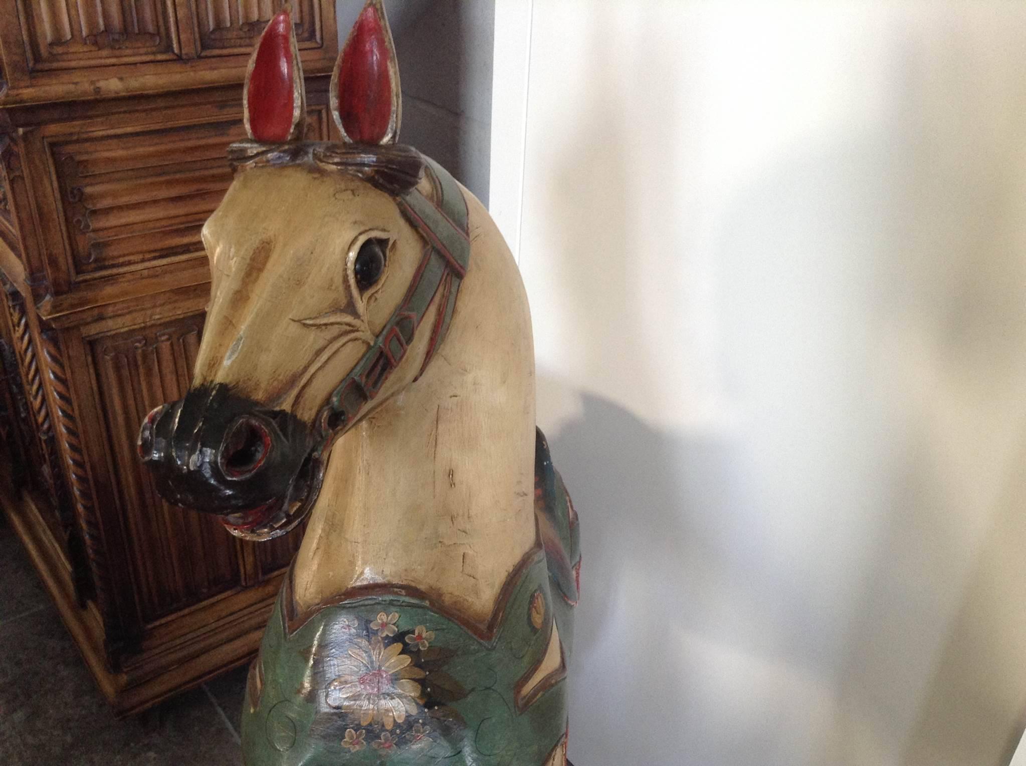 cheval de man ge ancien jouets en bois. Black Bedroom Furniture Sets. Home Design Ideas
