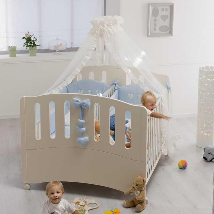 Babybett für Zwillinge NEU Doppelbett Gemini Azzurra ...