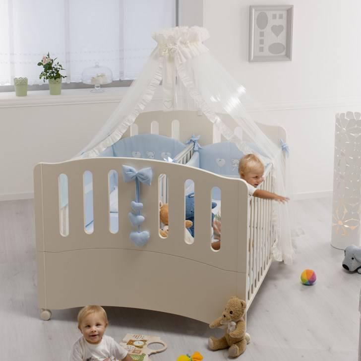 babybett f r zwillinge neu doppelbett gemini azzurra. Black Bedroom Furniture Sets. Home Design Ideas