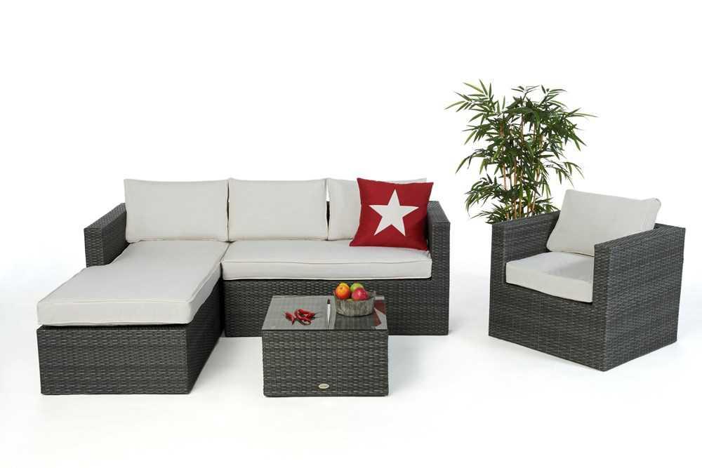 rattan gartenlounge rattanm bel lounge kissen polster. Black Bedroom Furniture Sets. Home Design Ideas