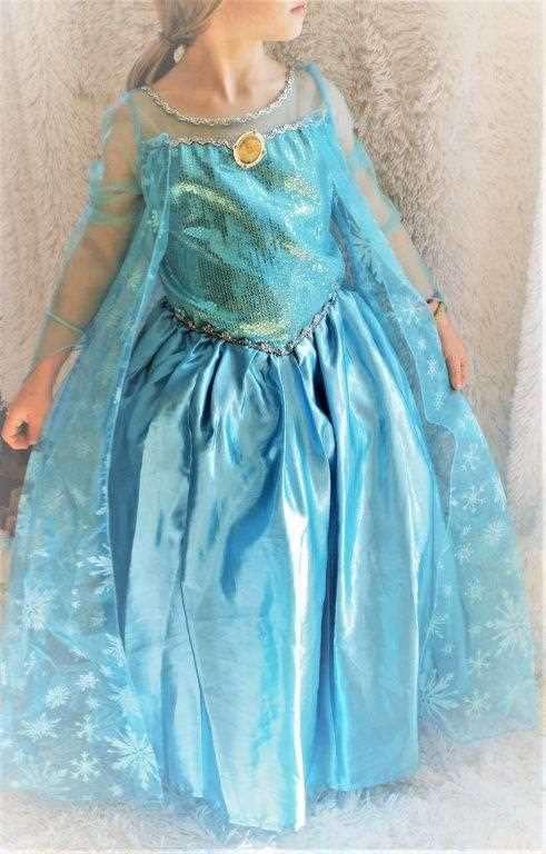 Prinzessin Frozen Elsa Kostüm, Gr. 122 - 128, Kinder, Elsa - Kleider ...