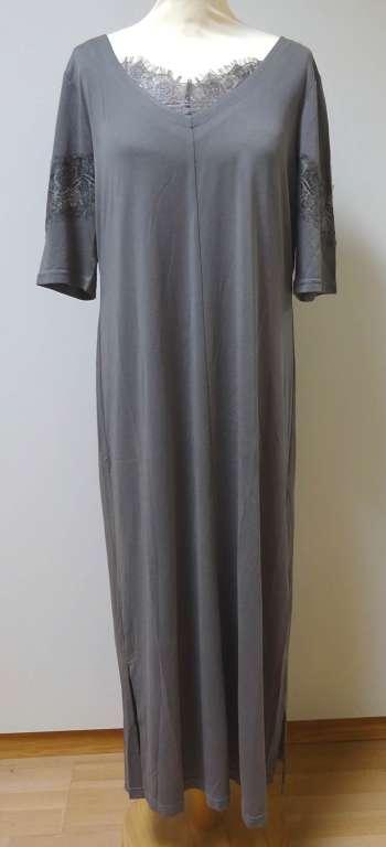 Grösse L: Cream - neues langes Jersey-Kleid - grau