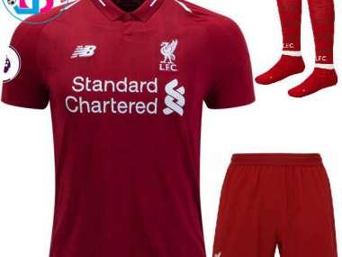 super popular e4e7b fdcf9 Shaqiri; Salah/ Liverpool 18-19 / Full Kit Enfant-Kinder Set