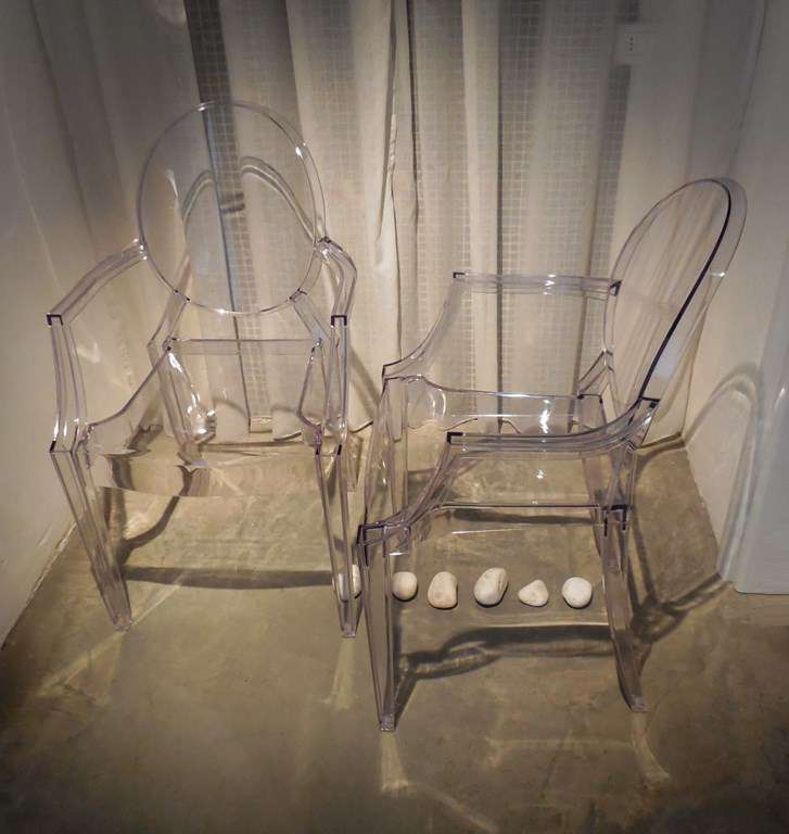 Ensamble De 4 Chaise Louis Ghostdesign Kartellpou La Table