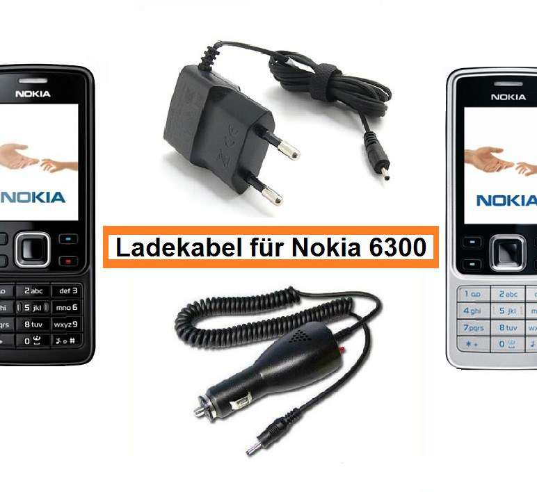 ladekabel f r nokia 6300 original neu ladeger te. Black Bedroom Furniture Sets. Home Design Ideas