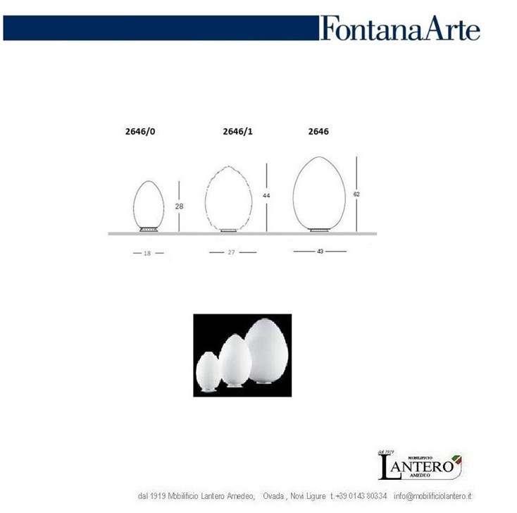 Table lamp UOVO, Fontana Arte design - Lampade da tavolo
